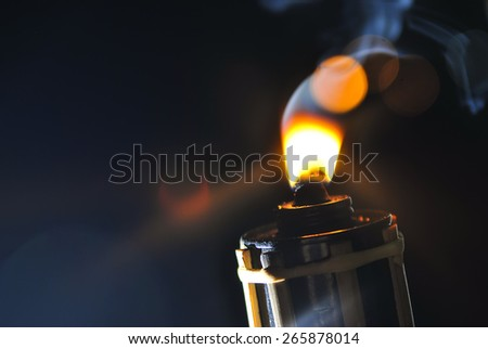 Malay tradition oil lamp selective focus at Hari Raya Celebration - stock photo