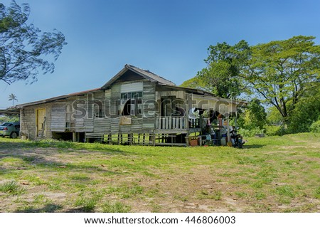 malay traditional house at malaysia