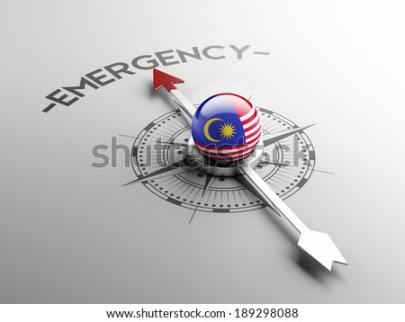 Malaysia High Resolution Emergency Concept