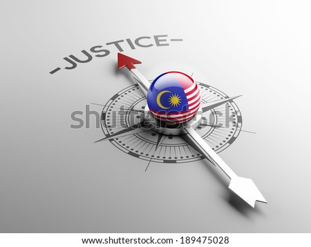 Malaysia High Resolution Justice Concept