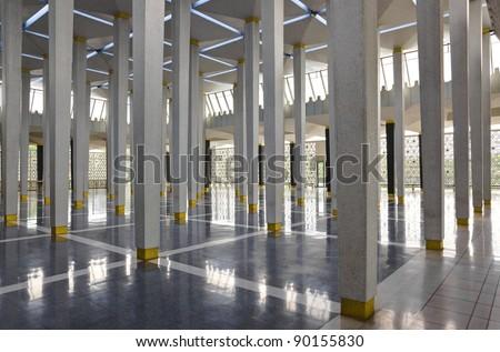 Malaysia national mosque at Kuala Lumpur - stock photo