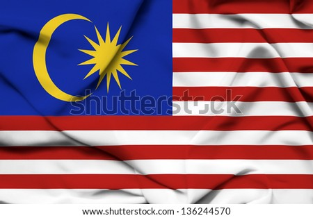 Malaysia waving flag - stock photo