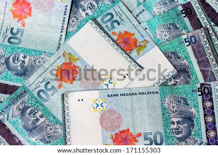 Malaysian ringgit money notes
