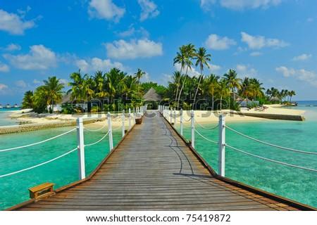 Maldive island - stock photo