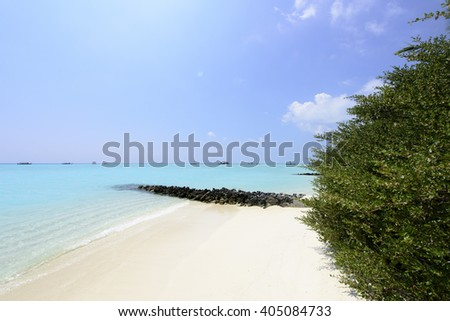 Maldives beach