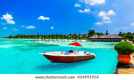 Maldives, welcome in Paradise! - stock photo