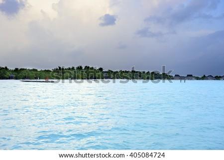 Maldivesa beach - stock photo