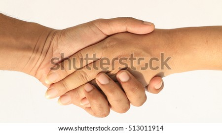 male and female hand shake as concept of success, business, love, deals, relationship, marriage, feelings and co-operation