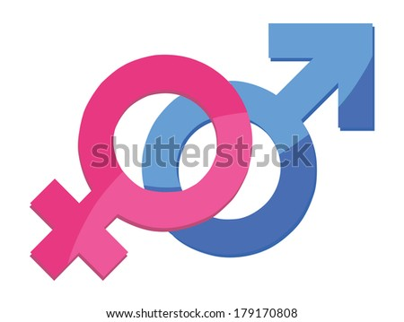 Male and female sex symbol