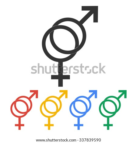 Male and female sex symbol - illustration.