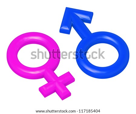 male and female sex symbols