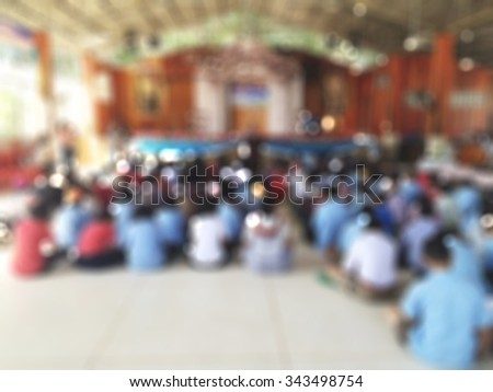 Male and female teachers in front of classroom activities leading students approve their skills and wisdom - stock photo