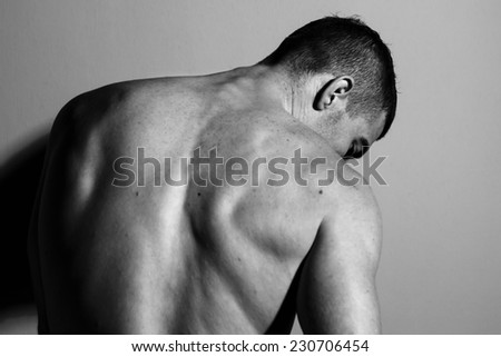 Male back - stock photo