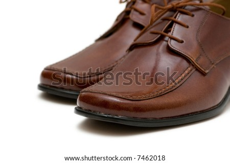 Male boots isolated on the white  background