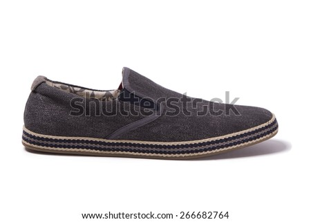 male canvas shoes - stock photo