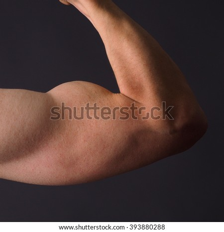 Male close up shot of his arm - stock photo