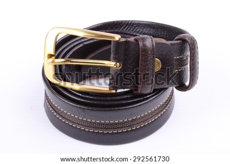 Male elegant belt isolated on the white