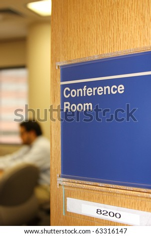 Male executive meeting in conference room - stock photo