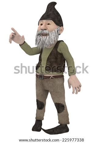 Male Fantasy Figure - stock photo