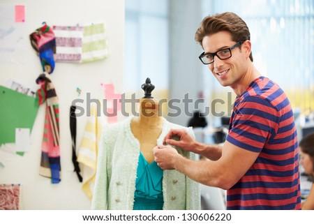 Male Fashion Designer In Studio - stock photo