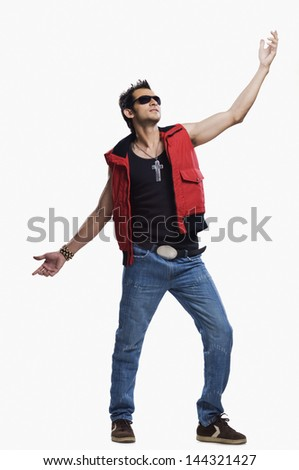 Male fashion model posing