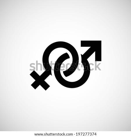 male & female symbol - stock photo