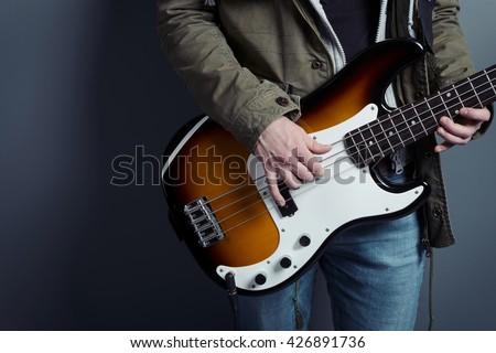 Male Fingers Holding Chords Produce Proper Stock Photo (Edit Now ...