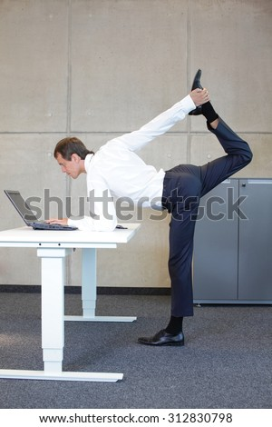 male fitness at office work