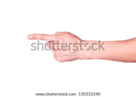 Male hand - stock photo