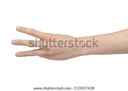 Male hand isolated