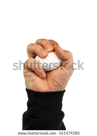 male hand isolated on white - stock photo