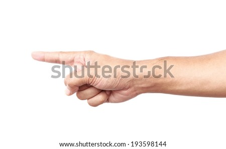 male hand on the isolated background
