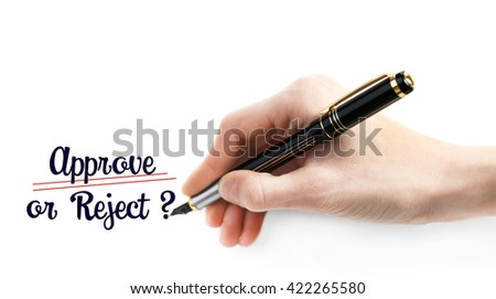 Male hand with black marker isolated on white
