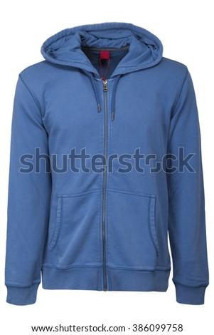 Male Hooded Sweatshirt - stock photo