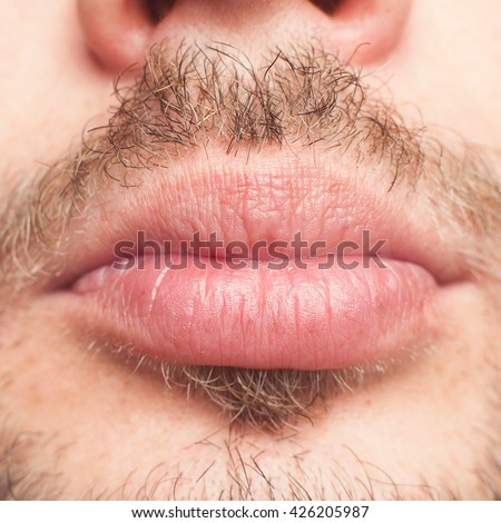 Male. Lips. Mouth. Beard. Mustache. The lower part of the face. Full male lips