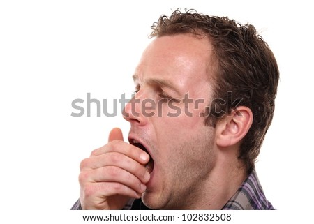 male man painting - stock photo