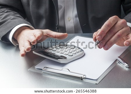 male manager hands taking care of finance