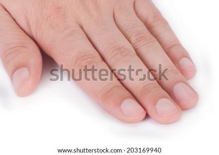 Male manicure - stock photo