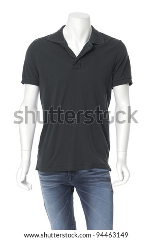 male mannequin dressed in jeans ,isolated