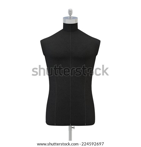 Male  mannequin on a white background, isolated