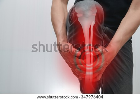 male Muscles - Bones leg pain. - stock photo