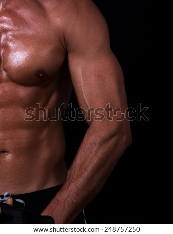 male muscular body details