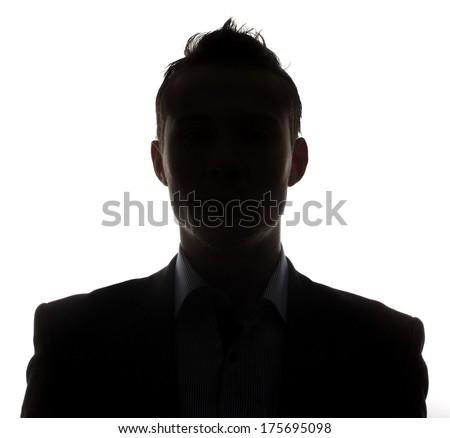 Male person silhouette - stock photo