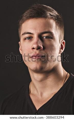 male portrait - stock photo