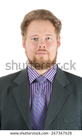 male portrait over white background - stock photo