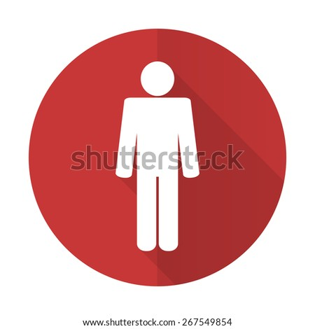 male red flat icon male gender sign  - stock photo
