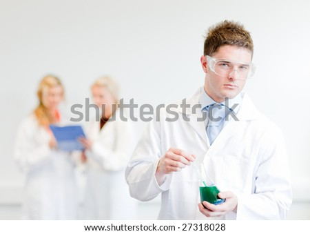 Male Scientisit at work - stock photo