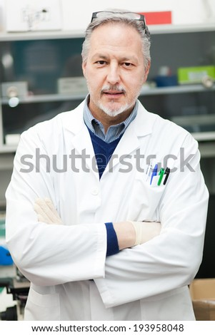 Male Scientist in a laboratory - stock photo