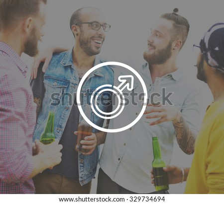 Male Sexual Gender Human People Concept - stock photo