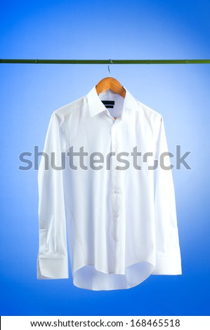 Male shirt against gradient background - stock photo